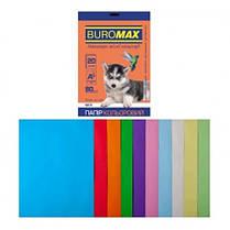 Набор бумаги д / печати цвет. А4 10 Когда. 20арк BUROMAX микс PASTEL + INTENSIVE 80г / м2 (1/150)