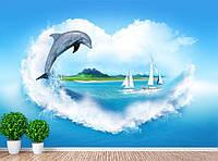 """Фото Обои """"Дельфин и парусники"""", фото 1"""