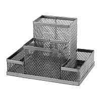 Підставка-органайзер Axent металева (сітка) 155*103*100мм, 4 відділення, срібна