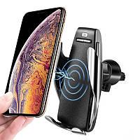 Автомобильный держатель для телефона smart sensor s5 с беспроводной зарядкой, держатель телефона в автомобиль
