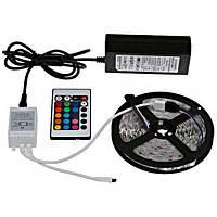 Светодиодная лента RGB 5050 300 LED комплект 5м с пультом и блоком питания
