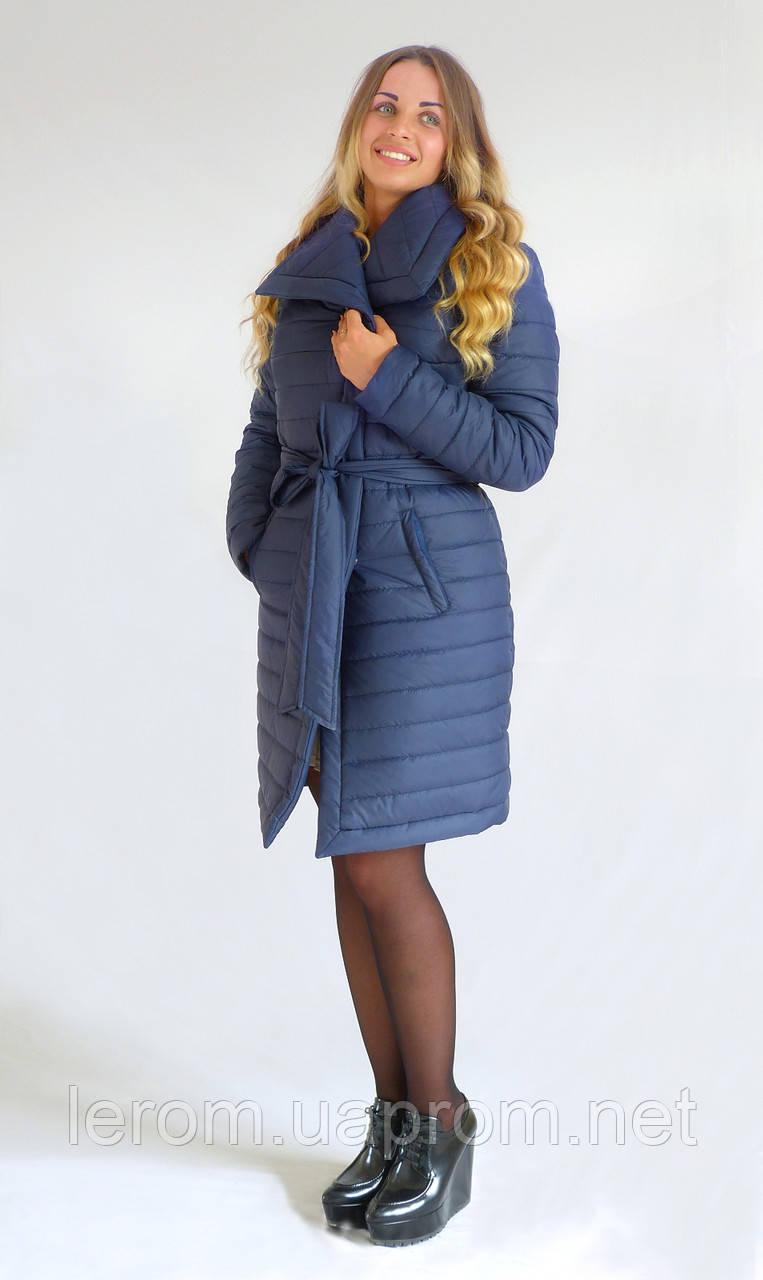 Модная зимняя куртка  Бант К&ML синяя