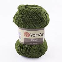 Пряжа Etamin (этамин)30гр - 180м (444 Зеленый) YarnArt, 100% акрил, Турция