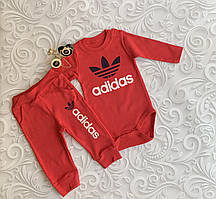 Костюм для новорожденных Adidas -  бодик, штаны.