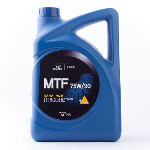 Купить Масло трансмиссионное Hyundai Mobis Gear Oil 75W-90 GL-3.4, 6л 043005L6A0