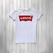 Мужская спортивная футболка в стиле Levi's White Белая