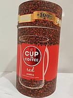 Кофе растворимый сублимированный 400г арабика в банке Cup coffee Red