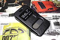 Кожаный чехол книжка для Samsung Galaxy J1 Ace Duos J110 чёрный