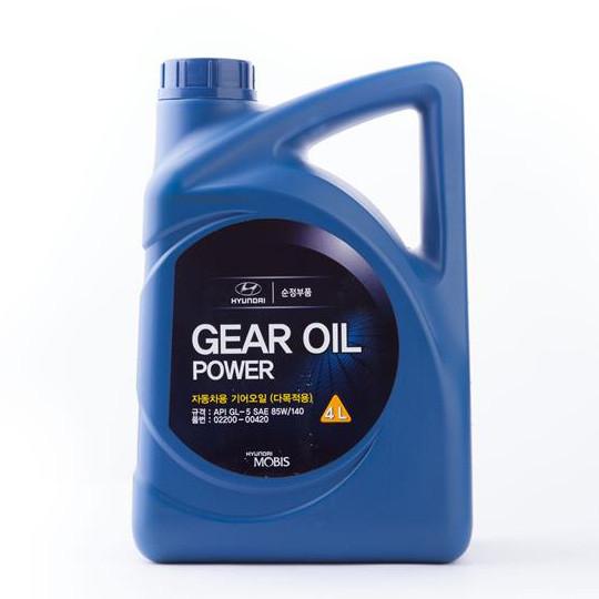 Купить Масло трансмиссионное Hyundai Gear Oil Power 85W-140, 4л 0220000420
