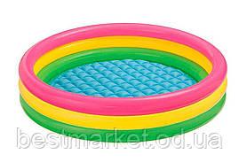 Надувний Дитячий Басейн для Плавання і Ігор Intex 114 х 25 см Круглий Басейн