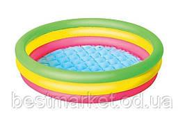 Надувной Детский Бассейн для Плавания и Игр Bestway 102 х 25 см Круглый Бассейн