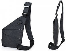Универсальная мужская сумка через плечо Cross Body Style Grey Серая, фото 3
