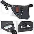 Универсальная мужская сумка через плечо Cross Body Style Grey Серая, фото 4