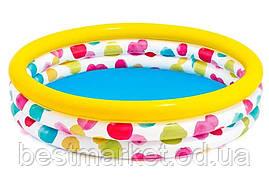 Надувной Детский Бассейн для Плавания и Игр Intex Крутые Точки 168 х 38 см Круглый Бассейн