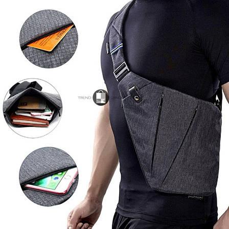 Универсальная мужская сумка через плечо Cross Body Style Grey Серая, фото 2