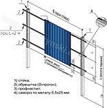 Ω (омега)-профиль для забора, кровли и фасада 1.25 мм. 20 мм. х 4 м., фото 2