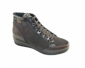 Женские ботинки  Н9310 Camoscio/Nappa Nero Hergos