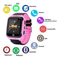 Реклама  Детские Умные часы Smart Watch, Smart часы детские с GPS Q528 + камера, pink