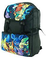 Черный стильный молодежный рюкзак серии Покемоны TRAUM