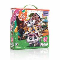 """Максі пазли картонні """"44 Коти. На фермі"""" VT1722-01 (укр)"""