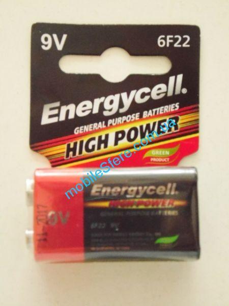 (ЗАКАЗ - 10шт УП) Бат.Energycell соляная  (крона)6F22M шт10