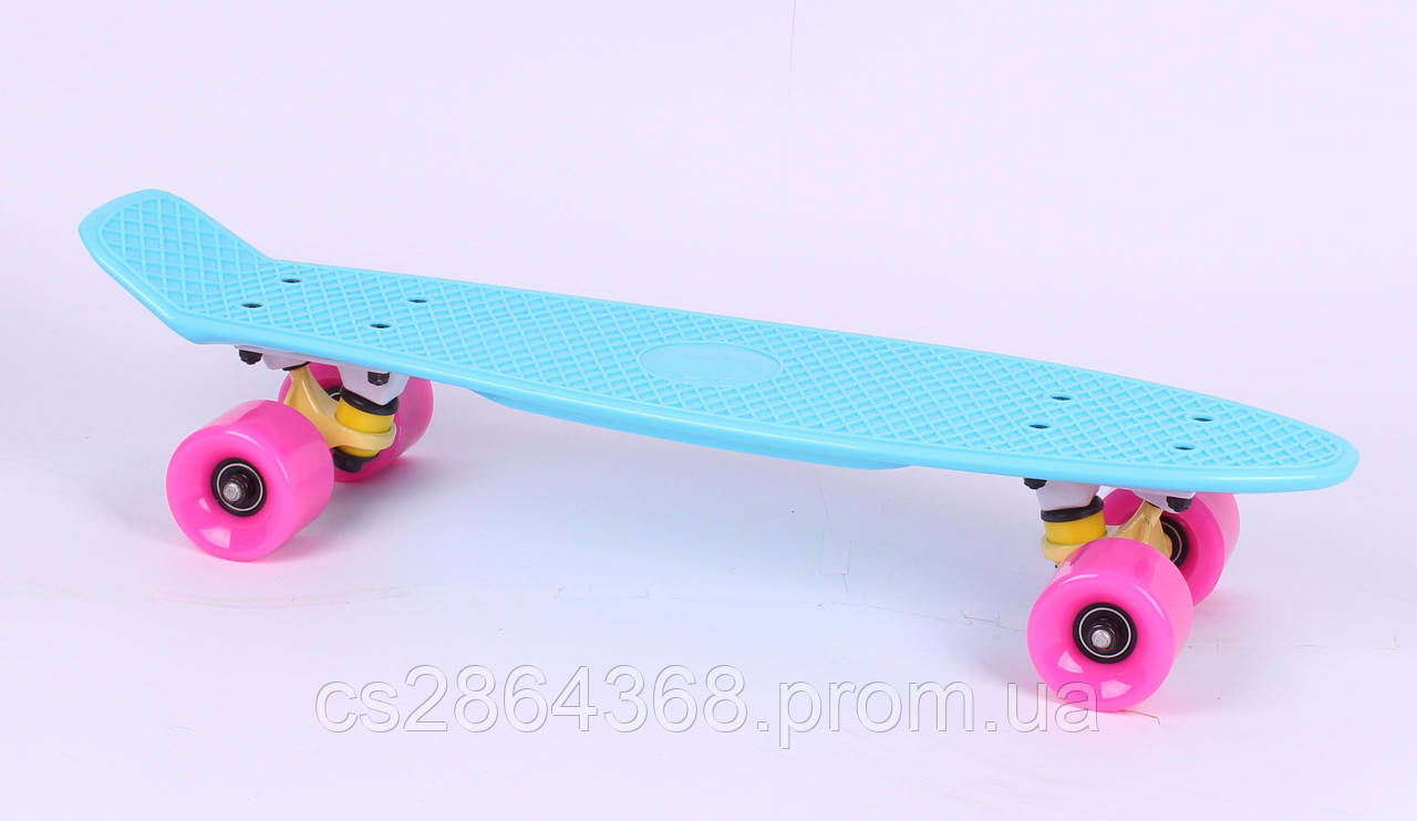 Пенниборд Fish S011-3 (031-1) розовые колеса