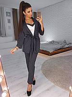 Молодежный брючный костюм для девушек, 00140 (Черный), Размер 50 (XXL)