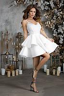 Платье для росписи с пышной короткой юбкой, 00231 (Белый), Размер 42 (S)
