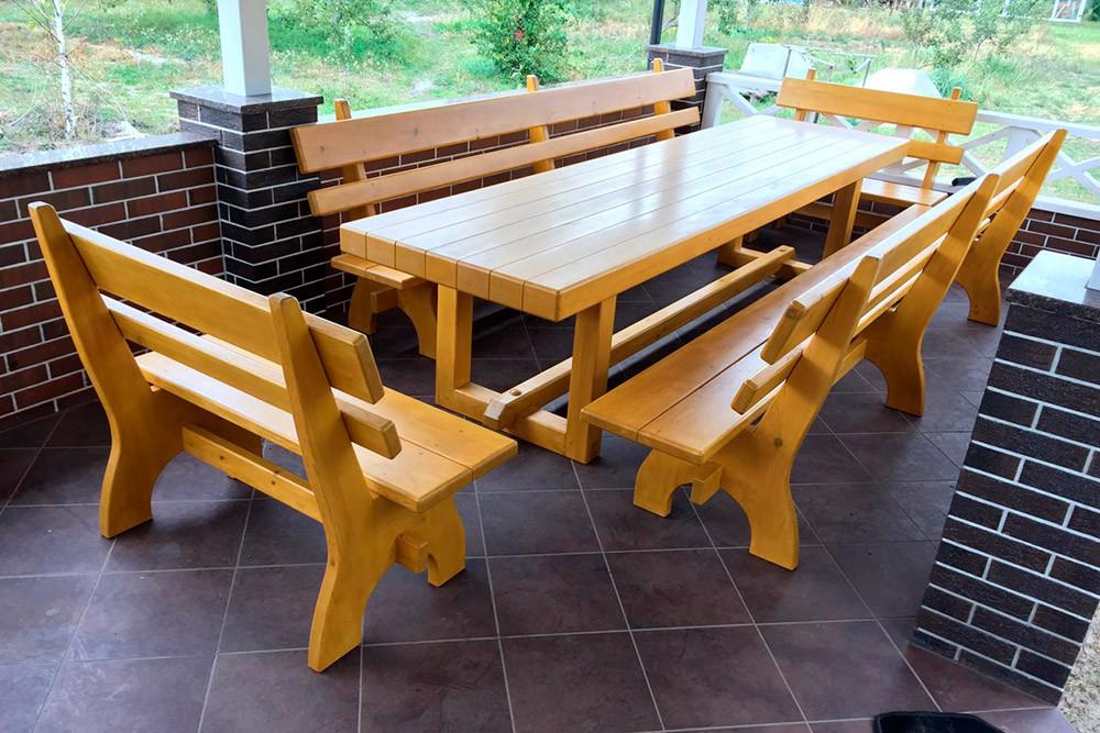 """Деревянный набор садовой мебели """" Кливленд"""""""