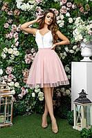 Платье для подружки невесты с пышной юбкой, 00248 (Розовый), Размер 44 (M)