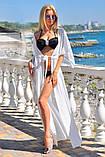 Пляжная туника длинная шифоновая в пол парео, фото 7