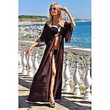 Пляжная туника длинная шифоновая в пол парео, фото 10