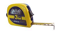 Рулетка измерительная 3мх16мм прорезиненные вставки 3 стопа Сталь