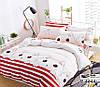 Подростковый полуторный комплект постельного белья Хомячки, ранфорс 100% хлопок, Украина