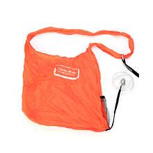 Складається сумка для покупок у вигляді рулетки - помаранчева