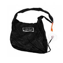 Складається сумка для покупок у вигляді рулетки - чорна