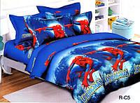Подростковый полуторный комплект постельного белья Спайдермен, ранфорс 100% хлопок, Украина