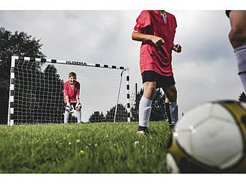 Футбольные ворота Hudora 300x160x90 см + сетка Германия