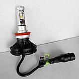 Светодиодные лампы для авто Turbo LED X3 H11, 6500K 50W, ближний/дальний, LED в авто, радиаторное охлаждение, фото 2