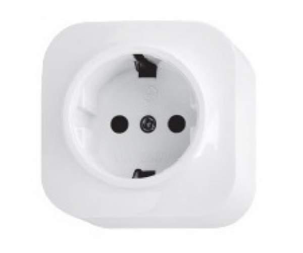 Розетка с заземлением накладная белая EVA (Horoz Electric)