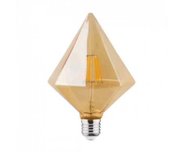 Лампа RUSTIC PYRAMID 6W Filament led E27 2200К (Horoz Electric)