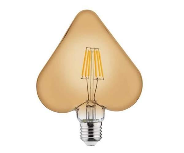Лампа RUSTIC HEART 6W Filament led E27 2200К (Horoz Electric)