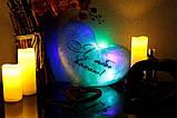 Светящаяся Подушка Сердце Я тебе кохаю, фото 2