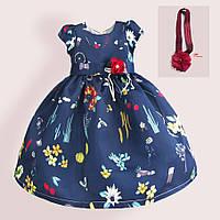 Платье для девочки с повязкой Театр цветов Zoe Flower (12 мес)