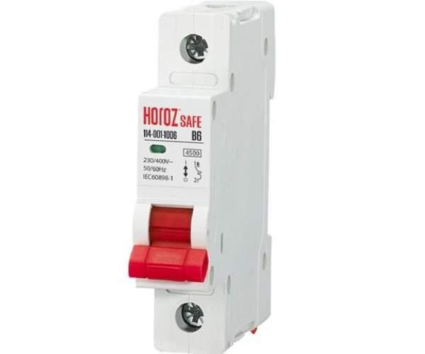 Автоматический выключатель SAFE 25А 1P В (Horoz Electric)