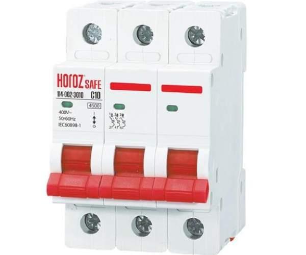 Автоматический выключатель SAFE 50А 3P С (Horoz Electric)