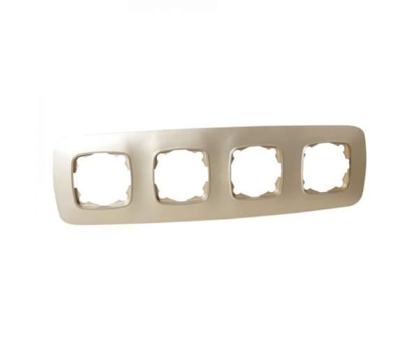 Рамка 4-ва золото ELA (Horoz Electric)