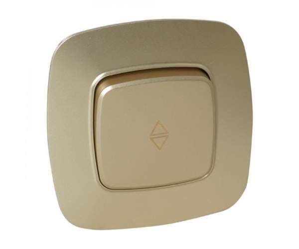 Выключатель проходной 1-клавишный золото ELA (Horoz Electric)