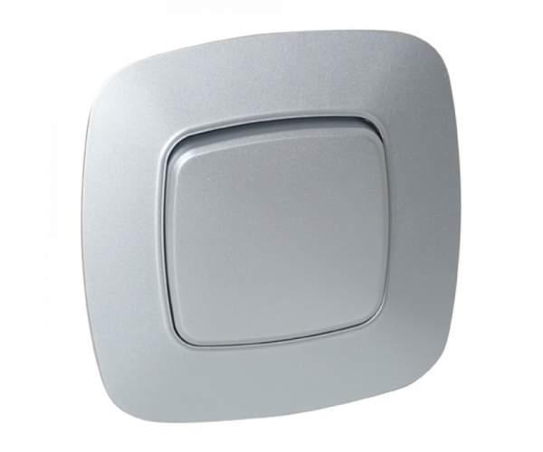 Вимикач 1-клавішний срібло ELA (Horoz Electric)