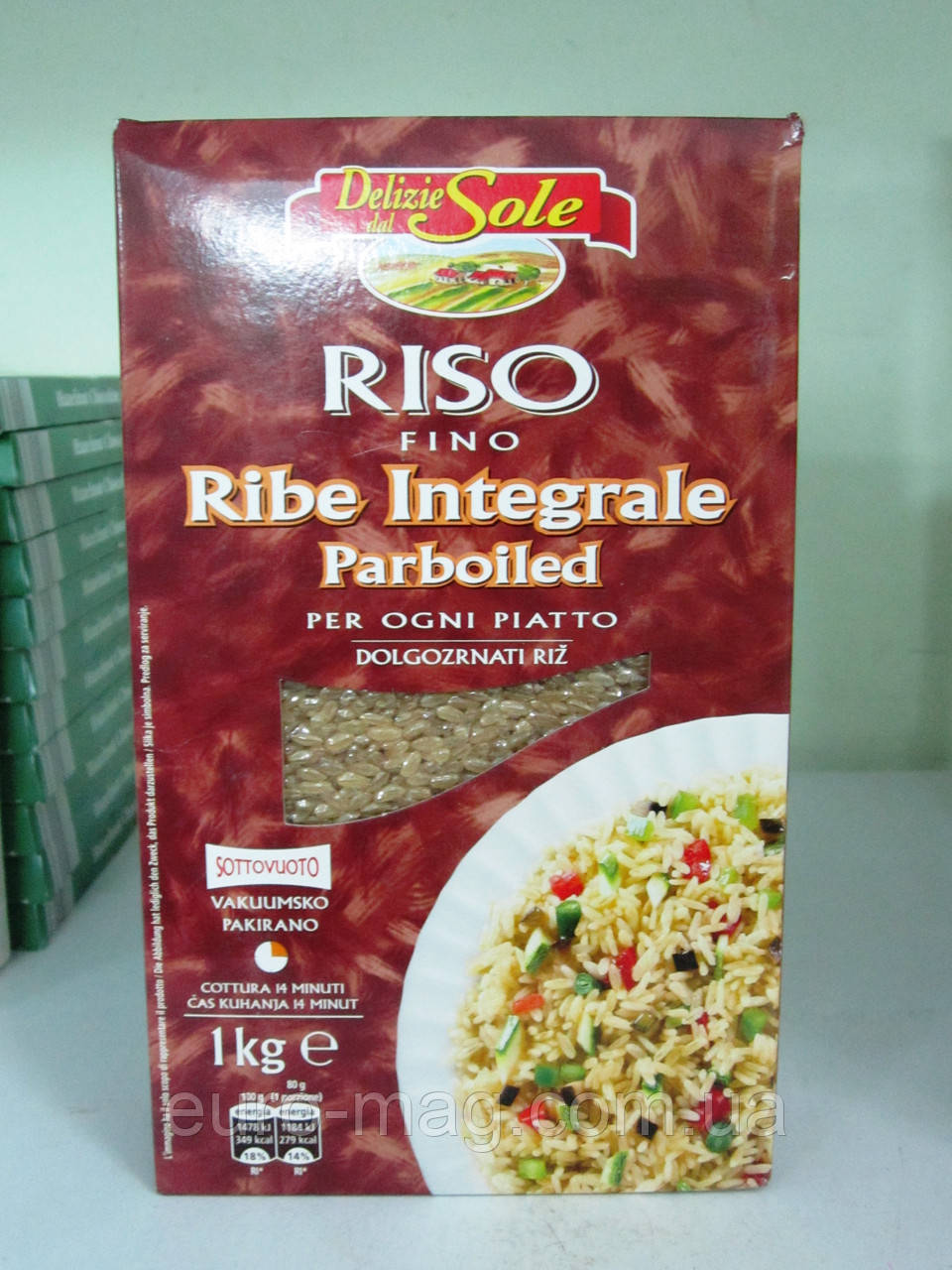 Рис коричневый Riso Fino Delizie Dal Sole 1000 г